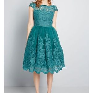 Chi Chi London Exquisite Elegance Dress in Teal